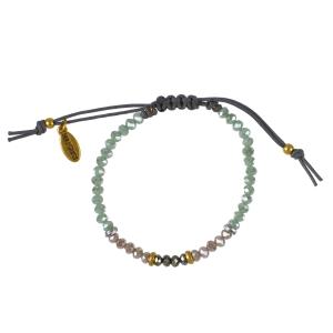 Armbånd med grønne/rosa perler – pris 159.00