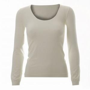 T-shirt med lange ærmer – ecru – pris 299.00