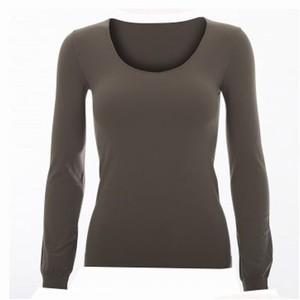 Dame t-shirt med lange ærmer – fango – pris 299.00