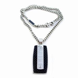 Herre halskæde – Vedhæng i carbon og stål – pris 1200.00
