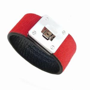 Læder armbånd - rødt skind
