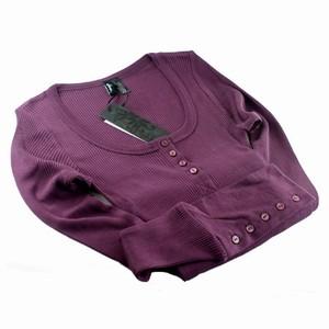 Cph luxe silkebluse med knap – lilla – pris 579.00