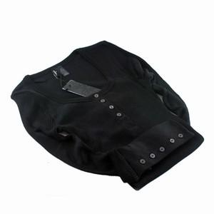 Cph luxe silkebluse med knap – sort – pris 579.00