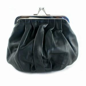 Læder pung – sort – pris 400.00