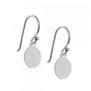Ørering med oval mønt – sølv – pris 179.00