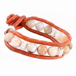 Rødt Baglady armbånd med perler – pris 99.00