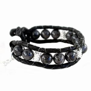 Sort Baglady armbånd med perler – pris 100.00