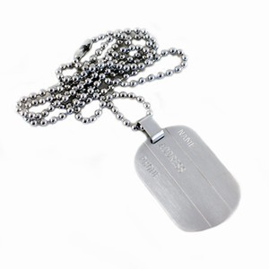 Herre halskæde med dogtag – enkel – pris 300.00