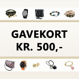 Gavekort 500 kr. – pris 500.00