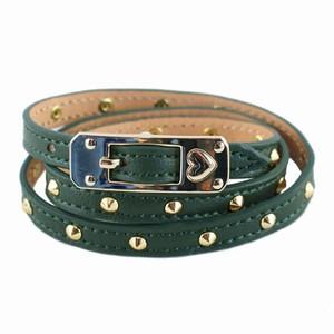 Stylesnob læderarmbånd - grøn