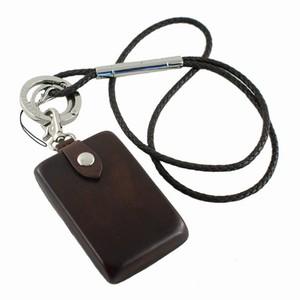 Keyhanger med kreditkortholder – mørk brun – pris 875.00