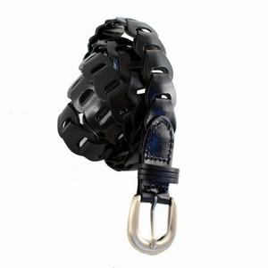 Smalt sort læder bælte – pris 200.00