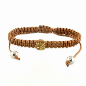 Knyttet armbånd – camel – pris 100.00