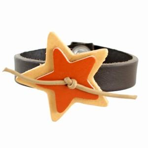 Læderarmbånd med stjerner
