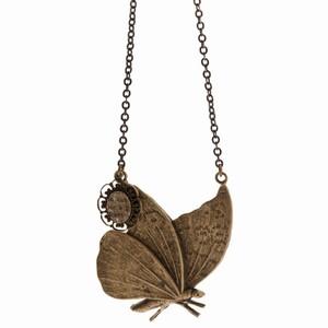 Halskæde med sommerfugl – pris 595.00