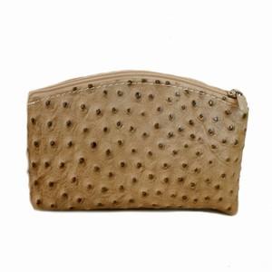 Pung med strudsepræg – brun – pris 200.00