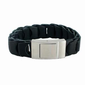Herrearmbånd – sort læder – pris 400.00