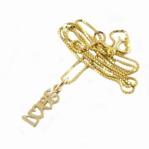 Forgyldt halskæde – LOVE – pris 200.00
