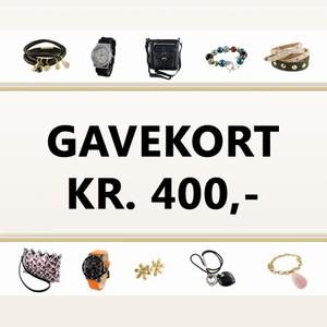 Gavekort 400 kr. – pris 400.00