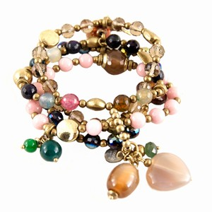 Perlearmbånd i gyldne farver – 4 stk. – pris 219.00