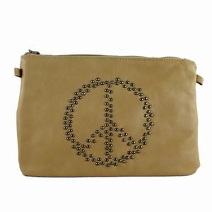 Brun taske med peacetegn – pris 269.00