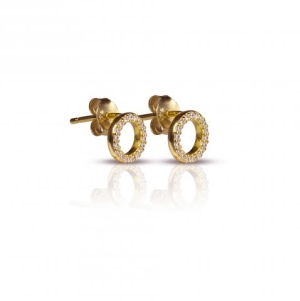 Runde øreringe – forgyldt – pris 229.00