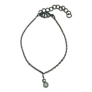 Oxideret armbånd med perle – pris 200.00