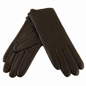 Skind handsker – mørke brun – pris 279.00