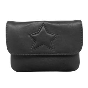 Sort læder taske med stjerne – pris 300.00