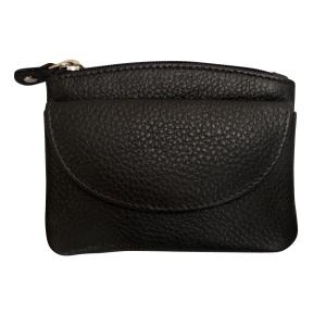 Lille sort læder pung – pris 150.00
