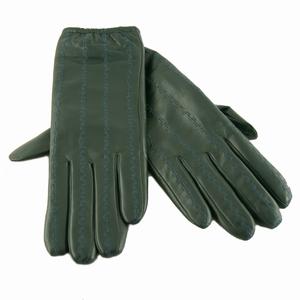 Skind handsker – flaske grøn – pris 349.00