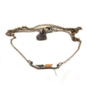 Halskæde Lovebirds – oxi og kobber – pris 250.00