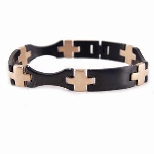 Herre armbånd – sort og rosa guld – pris 450.00