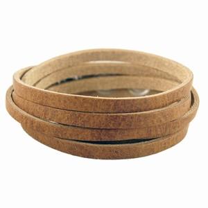 Herrearmbånd – lysbrun læder – pris 100.00