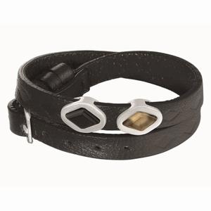 Sort læderarmbånd - Sence Cph