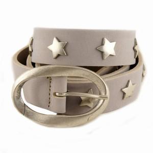 Grå læderbælte med stjerner – pris 279.00