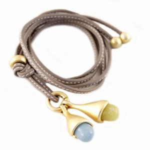 Læder halskæde med vedhæng – pris 579.00