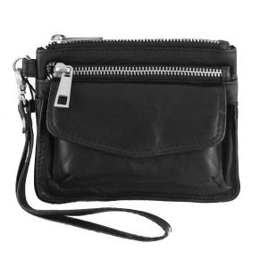 Lille læder taske / pung – sort – pris 350.00
