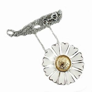 Hvid marguerit - sølv halskæde