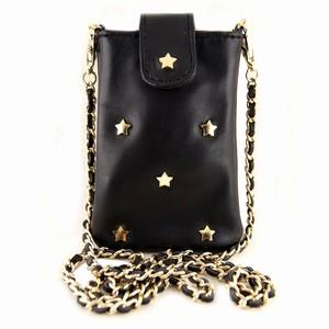 Mobiltaske i sort læder – pris 399.00