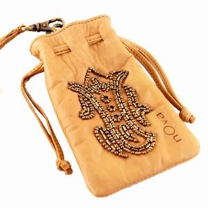 Skind mobiltaske med perler – pris 299.00