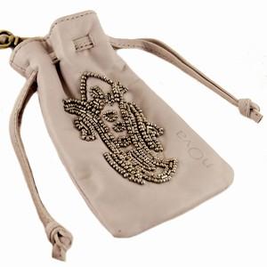 Læder taske til mobil med perler – pris 299.00
