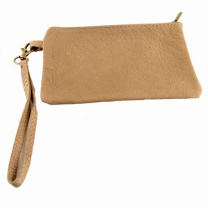 Læder pung – mobiltaske i brun – pris 249.00