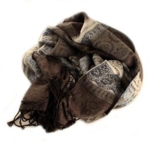 Romantisk tørklæde – rosa/brun – pris 299.00