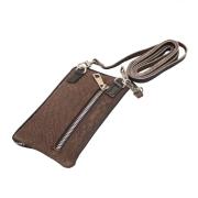 Mobiltaske - taupe læder